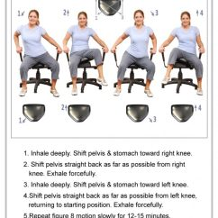 Portable Wobble Chair Exercises Round Wooden (therapeutic) - The Pettibon System