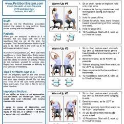 Portable Wobble Chair Exercises Linen Dining Chairs Therapeutic The Pettibon System Warm Ups Instructions Page 1