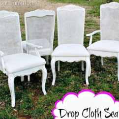 Chair Seat Cover Fabric Mexican Restaurant Chairs Easy Drop Cloth Diy Idea For Covering Seats How About A Fun And With
