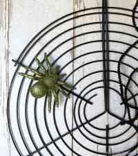 Spider Web Grill Rack DIY Idea For Halloween Fun
