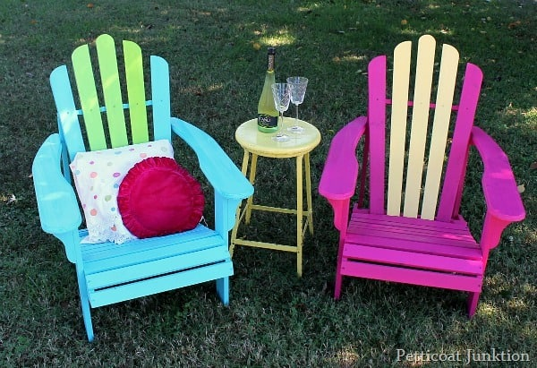 painted adirondack chairs cheap folding chair how to assemble and paint wood