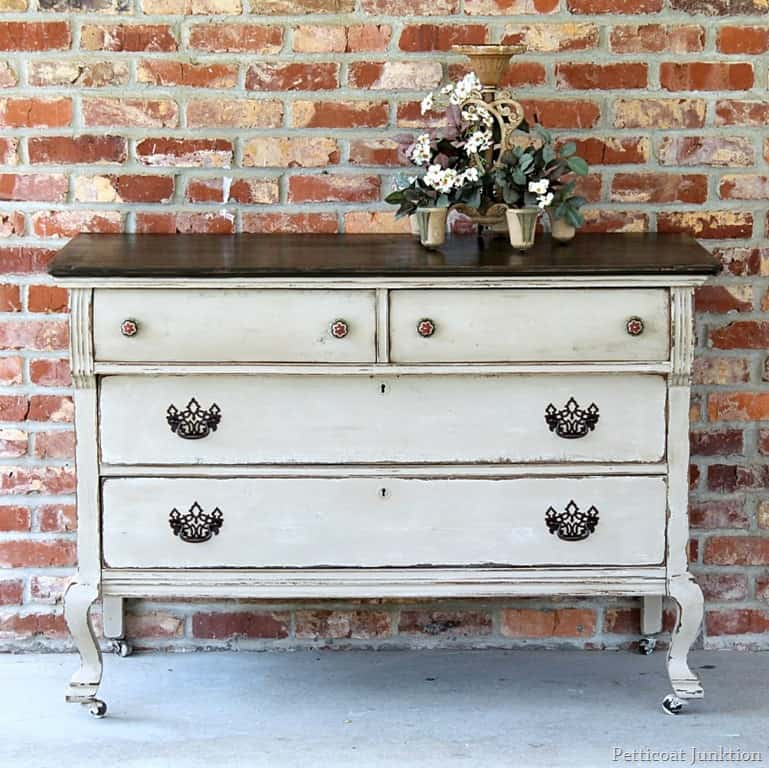 Extreme Painted Furniture Makeover TwoTone FinishPetticoat Junktion