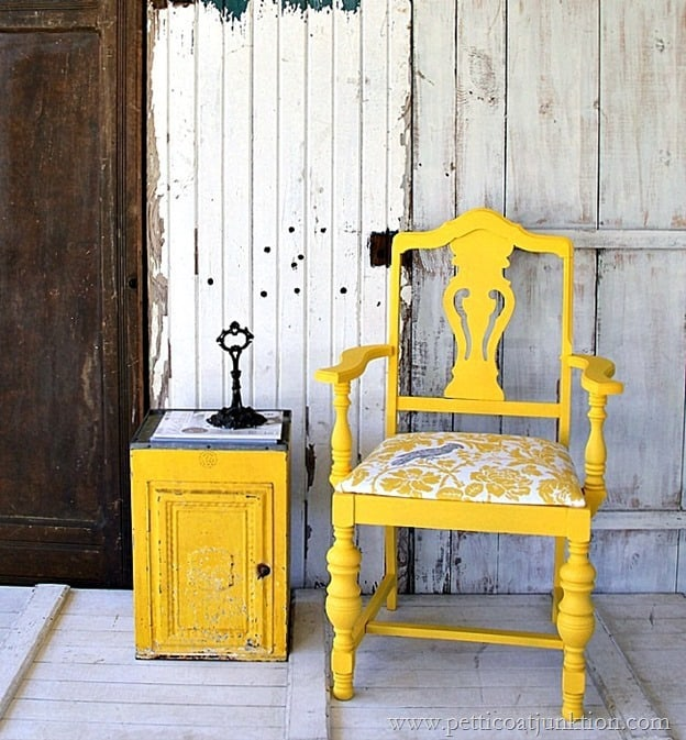 Beautiful Yellow Chair From Petticoatjunktion