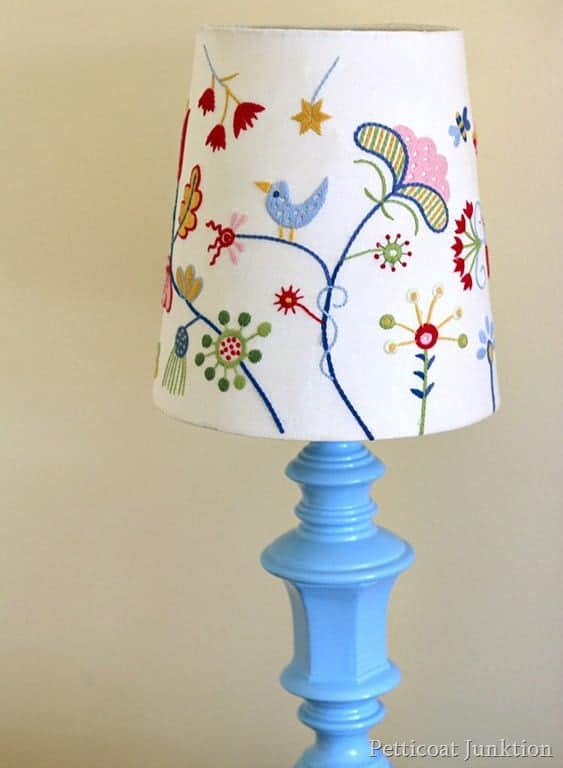 Brass Lamp Makeover Using Spray Paint And A Thrifty Shade