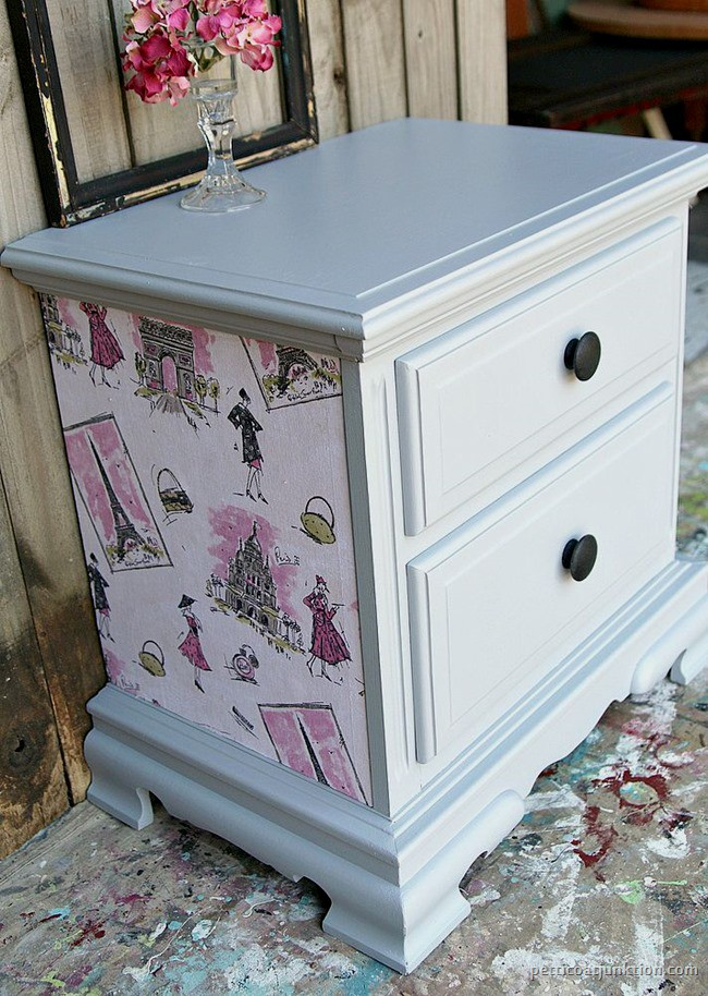How To Decoupage Furniture And Change Hardware Style Petticoat Junktion