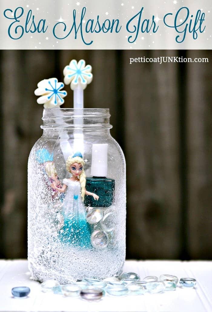 Elsa Frozen Mason Jar Gift For Granddaughter Petticoat