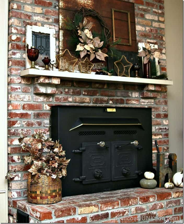 Ideas For Decorating A Fireplace Mantel Amber Glass Rustic Mantel Decor | Christmas Ideas Tour