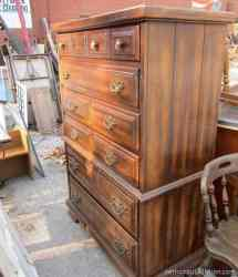 furniture coral bedroom drawers chest yellow favorite painted mix paint junk purchased makeover