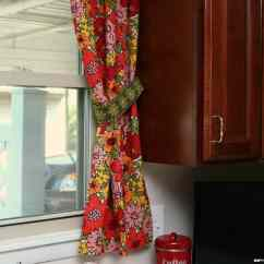 Unfinished Kitchen Cabinets The Best Countertop Material Vintage Barkcloth Curtains | One Becomes Two - Petticoat ...