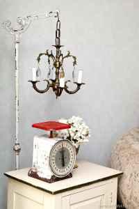 Junk Chandelier Swings From Antique Lamp Stand-Petticoat ...