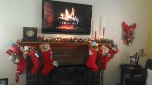 Christmas fireplace 2013