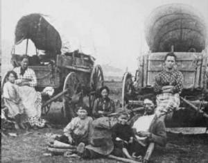 Oregon Trail wagon train