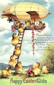 Easter Vintage chicks derrigible
