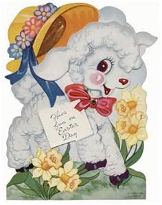 Easter vintage lamb