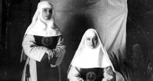 Two postulants from the Congregation of the Incarnate Word in San Antonio, Texas, ca. 1890.
