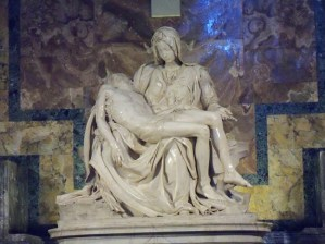 Michelangelo's Pieta in St. Peter's Basilica in Vatican City.