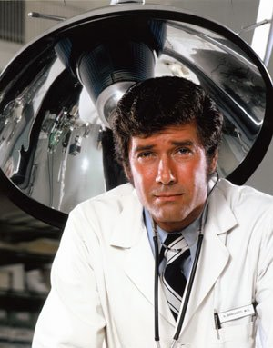 Robert Fuller as Dr. Kelly Brackett on Emergency