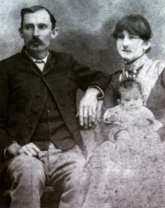 James Brown Miller and wife Sallie Clements Miller with one of their four children, 1890s