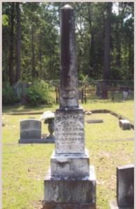 WD Lyles grave marker Vernon Parish, Louisiana