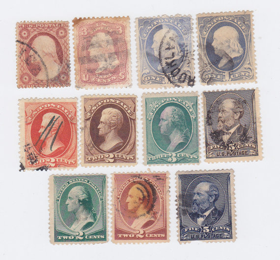 Postage Stamps of the 1800's