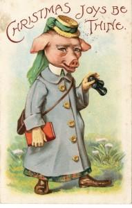 Vintage Christmas--Pigman