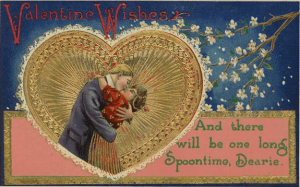 vintage valentine-card-kissing-couple-SPOONTIME