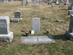 Jesse James's Grave in Kearney, Missouri