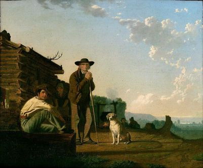 """The Squatters"" by George Caleb Bingham, 1850 (courtesy The Museum of Fine Arts, Boston )"