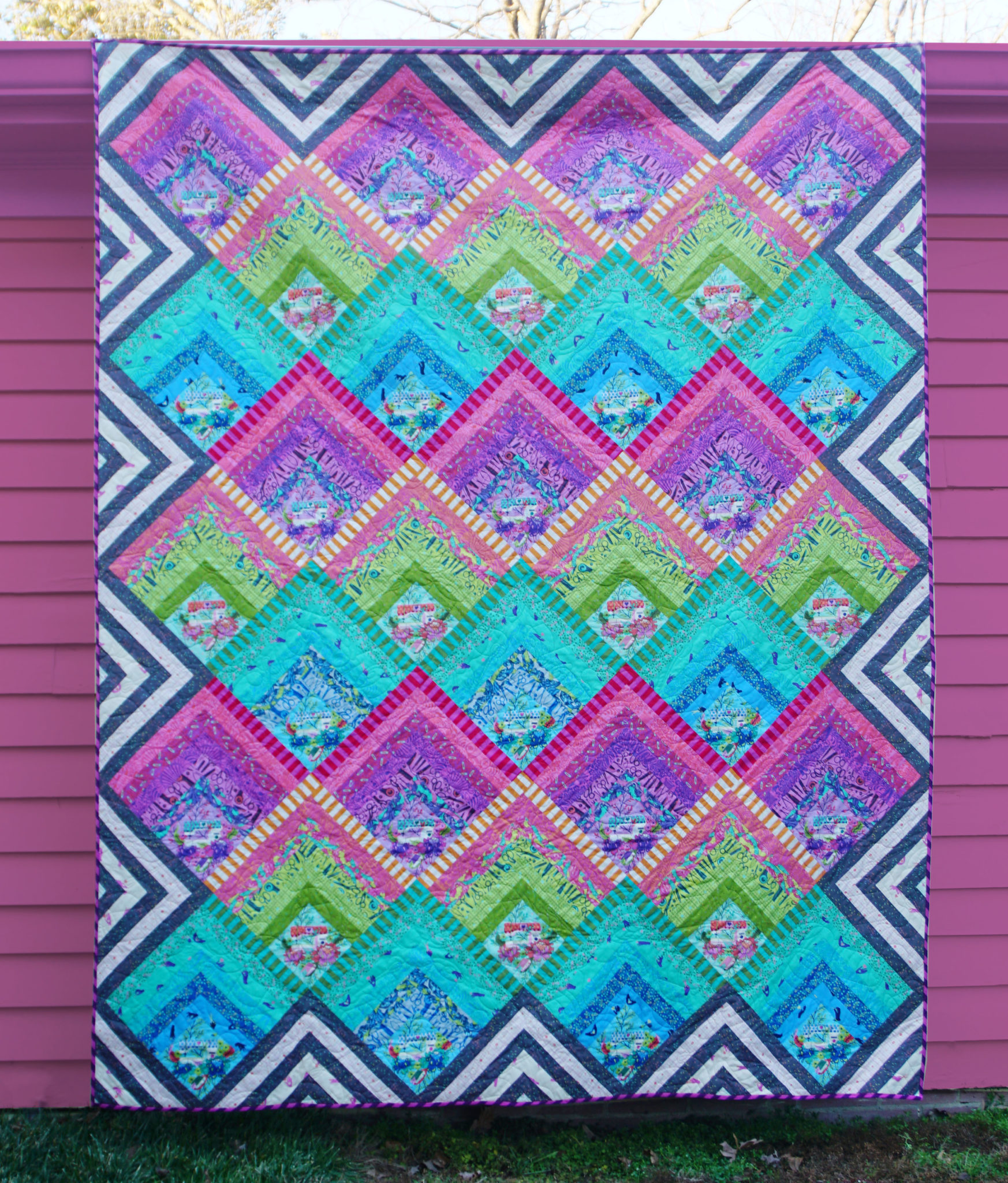Tula Pink Electric Slide Quilt Featuring Homemade