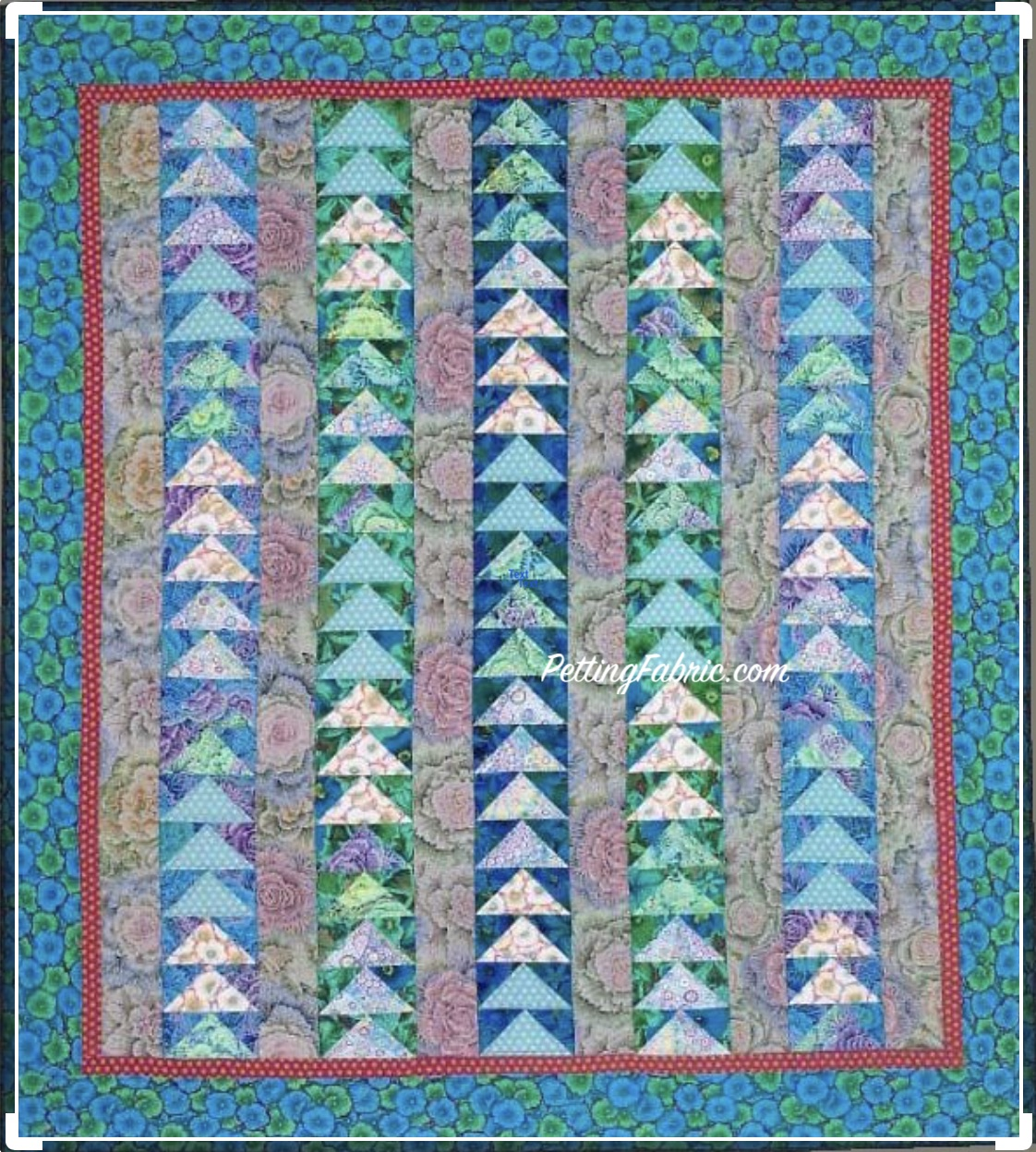 Modern Geese In Flight Quilt Kit With Kaffe Fassett