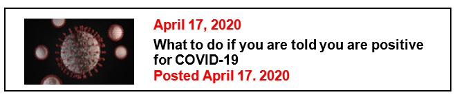 4-17-20 What to do if you are told you are positive for COVID-19 Eng