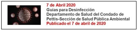 April 7 2020 Sanitizing Guidelines Sp