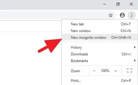 Cara Incognito Google Chrome