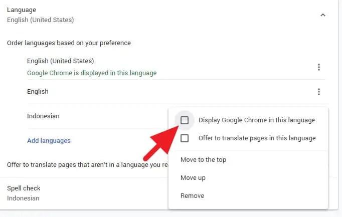 Cara Membuat Google Chrome Bahasa Indonesia
