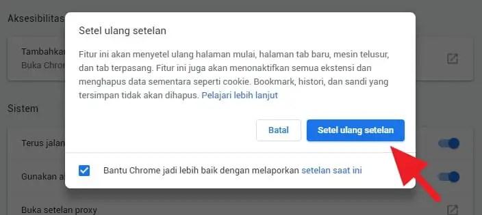 Cara Reset Google Chrome ke Pengaturan Awal