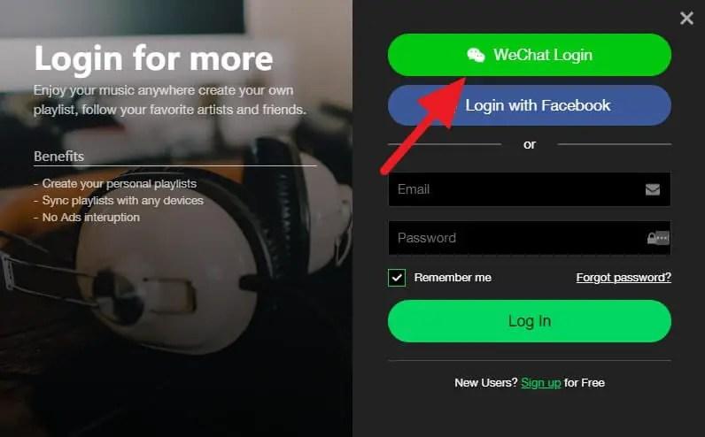 Cara Login ke Joox Versi PC Melalui Akun WeChat 2