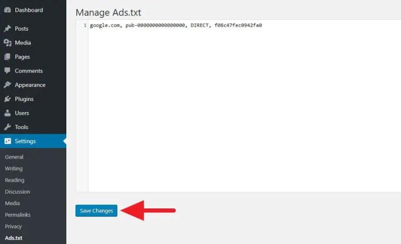 membuat ads.txt di WordPress