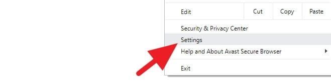 Avast Secure Browser Settings
