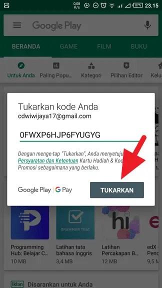 Cara Beli Voucher Google Play dengan OVO Points (2019) - Redeem Kode Voucher Google Play 4