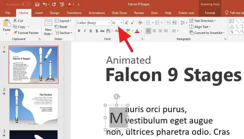2 Cara Membuat Drop Cap di PowerPoint (SEMUA VERSI) 12