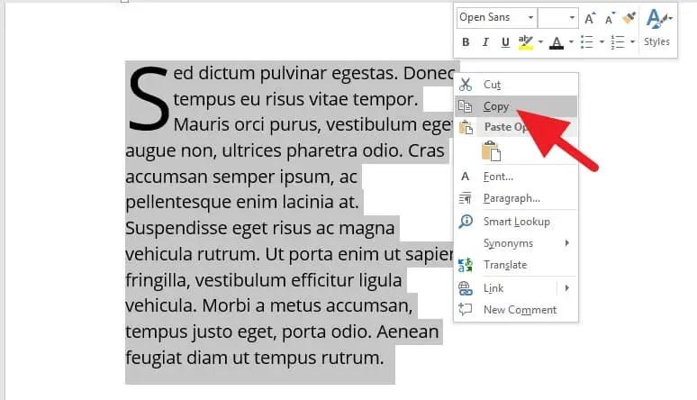 2 Cara Membuat Drop Cap di PowerPoint (SEMUA VERSI) 5