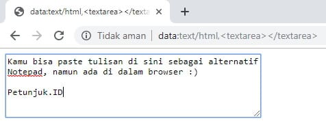 Notepad Browser