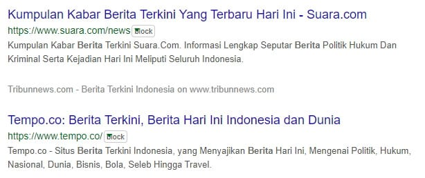 3 Cara Blokir Situs Tertentu dari Hasil Pencarian Google 14