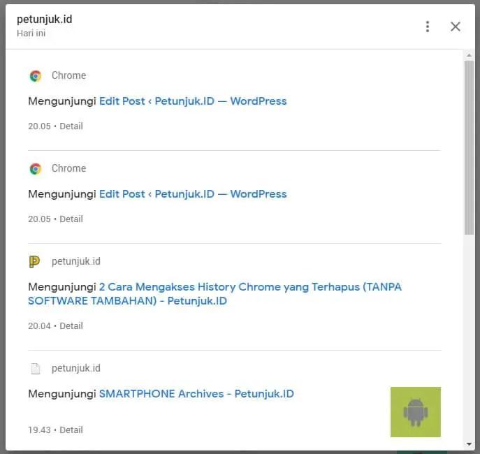 3 Cara Mengakses History Chrome yang Terhapus (TANPA SOFTWARE TAMBAHAN) 3