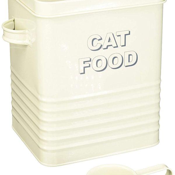 Contenitore per cibo per gatti Home Sweet Home, 20 cm, colore panna Lesser & Pavey