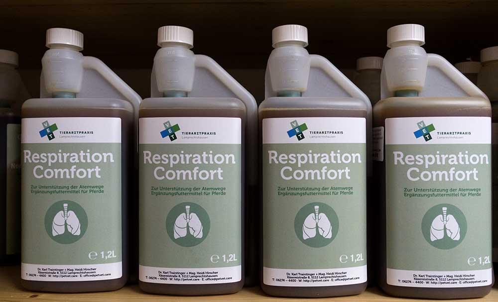 Zur Unterstützung der Atemwege. Ergänzungsfuttermittel für Pferde.