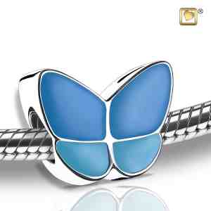 Sterling Silver Butterfly Bead Cremation Pendant