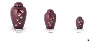 Burgundy Red Glass Urns