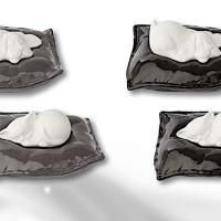 Dog or Cat Resting Pillow Ceramic Italian Urn