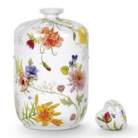 Porcelian Floral Urns